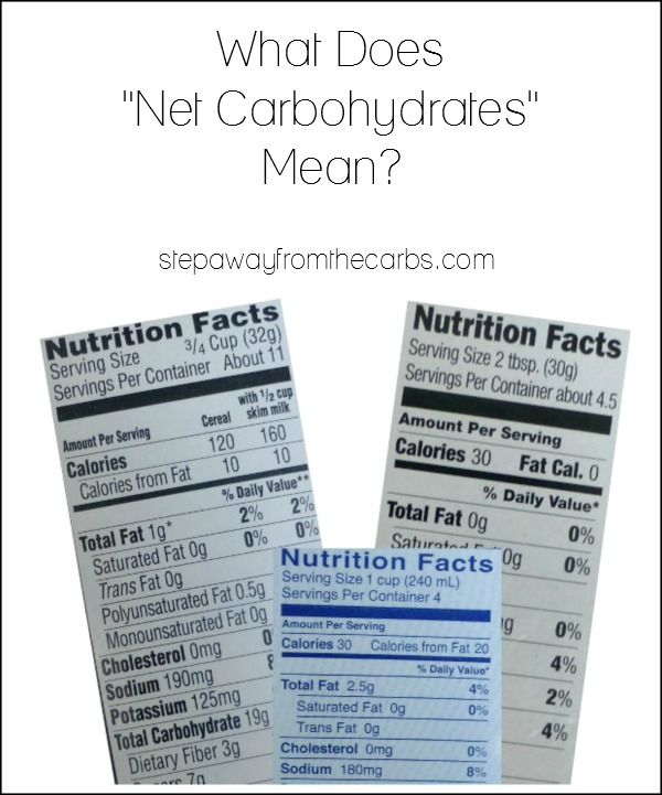 What Does Net Carbs Mean