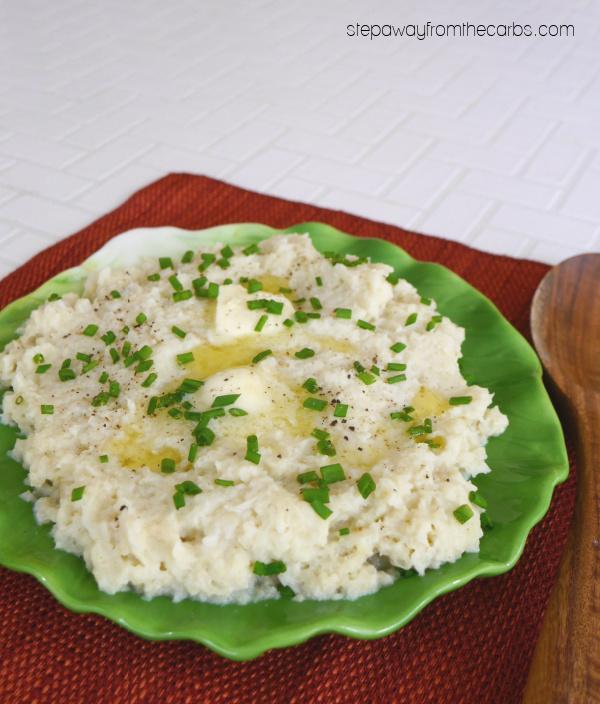 Horseradish Cauliflower Mash - a low carb and keto side dish recipe
