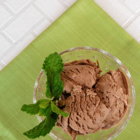 Low Carb Mint Chocolate Ice Cream