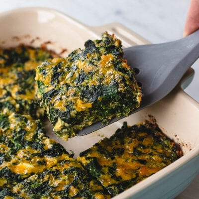 Low Carb Spinach and Cheese Squares