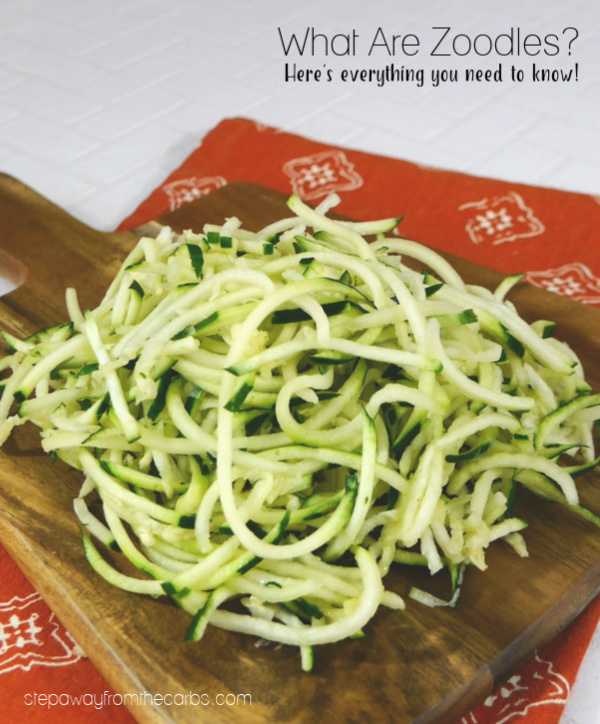 What Are Zoodles? A guide to this tasty low carb alternative to pasta noodles.