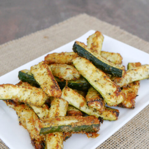 Low Carb Roasted Zucchini Fries