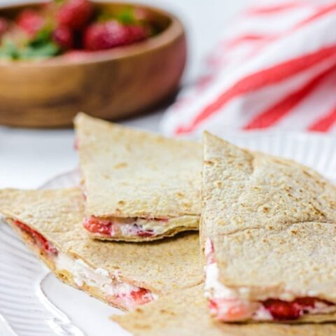 Low Carb Strawberry Quesadilla