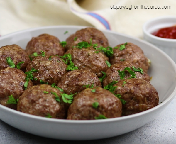 Cheese Stuffed Meatballs - a delicious low carb, keto, LCHF, and gluten free recipe