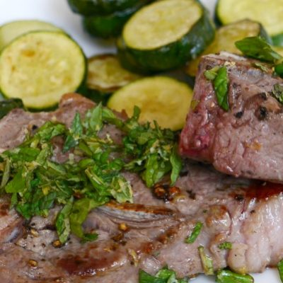 Lamb Chops with Mint Gremolata