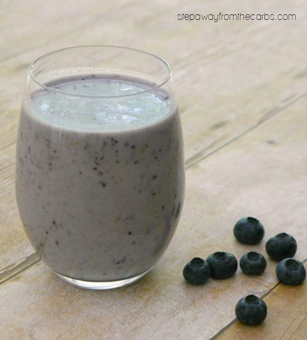 Blueberry Protein Power Smoothie - low carb recipe for a snack or breakfast!