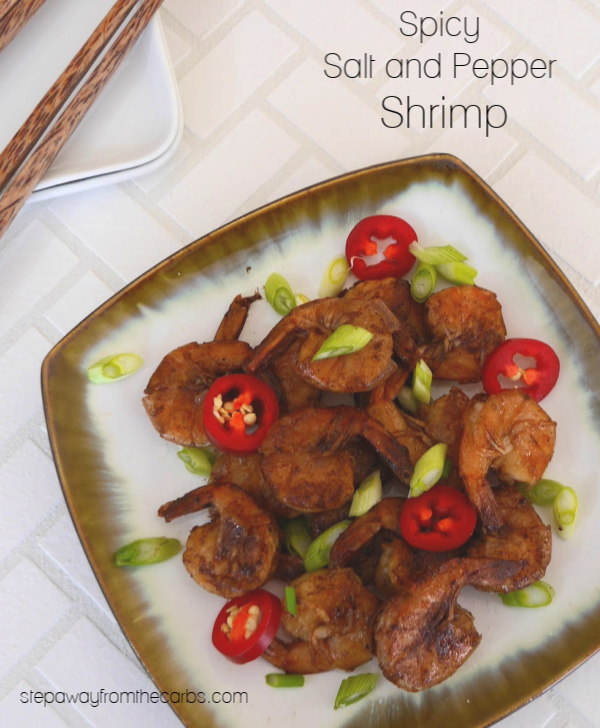 Spicy Salt and Pepper Shrimp - low carb appetizer recipe