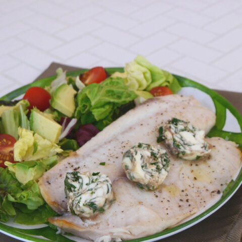 Tilapia with Parsley Anchovy Butter