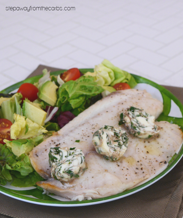 Roasted Tilapia with Parsley and Anchovy Butter - a low carb and keto friendly recipe