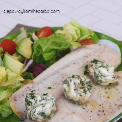 Roasted Tilapia with Parsley Anchovy Butter