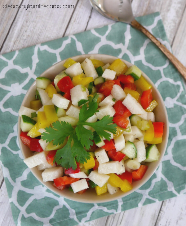 Jicama Salad - a light and refreshing low carb side dish