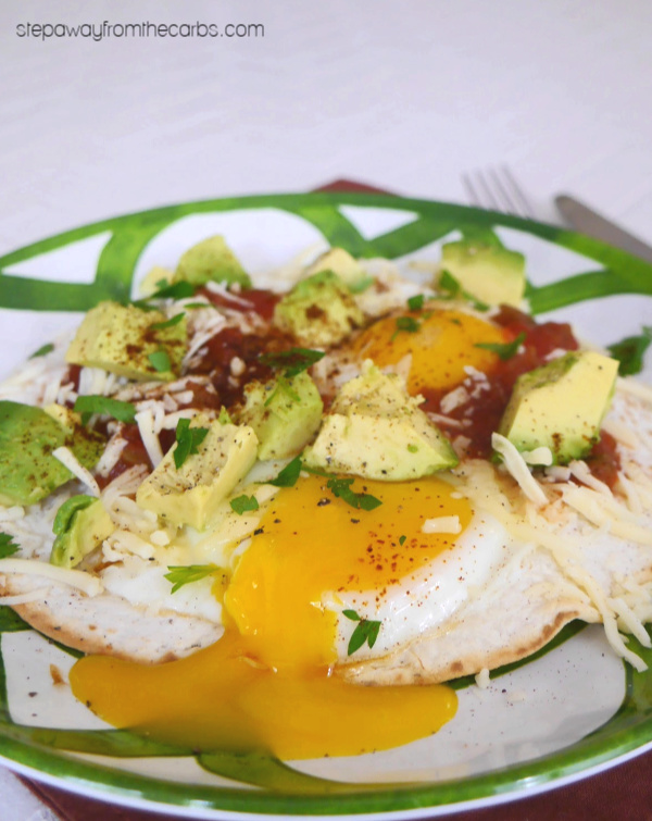 Low Carb Huevos Rancheros - a Mexican-inspired breakfast or brunch recipe