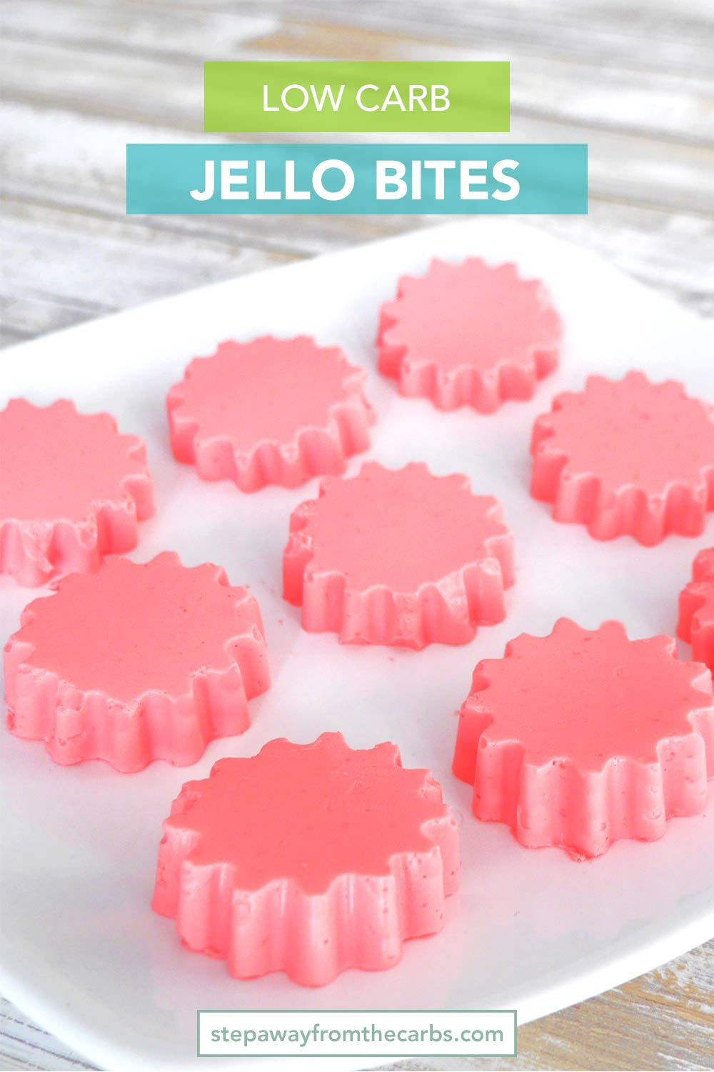 Yogurt Jello Bites - a low carb and sugar free snack recipe, made from just two ingredients!