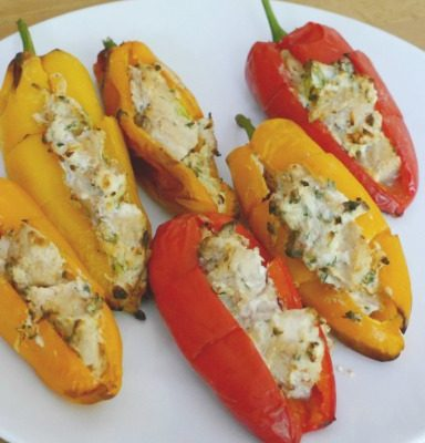 Chicken Stuffed Mini Peppers