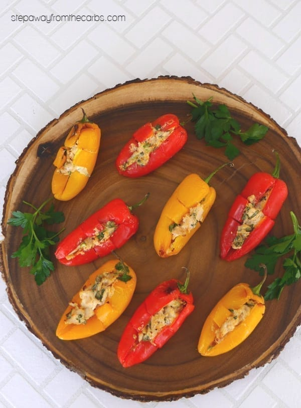 Chicken Stuffed Mini Peppers - a low carb and keto appetizer or party food recipe