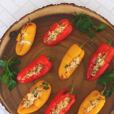 Chicken Stuffed Mini Peppers