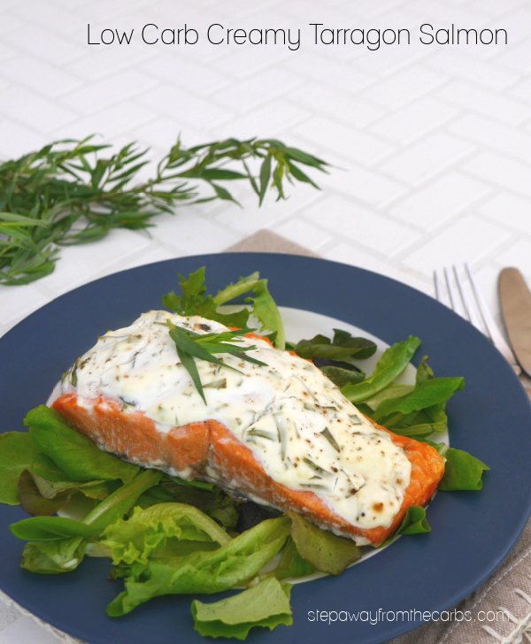Low Carb Creamy Tarragon Salmon - an easy keto recipe with great flavor!