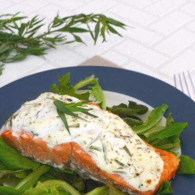 Low Carb Creamy Tarragon Salmon