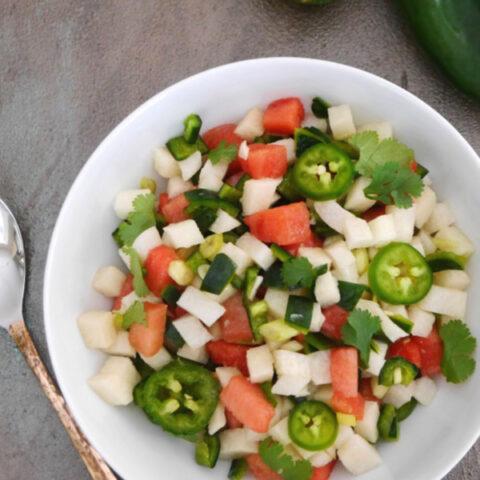Spicy Watermelon and Jicama Salsa
