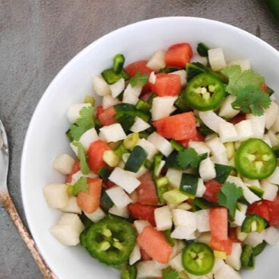 Spicy Watermelon and Jicama Salsa