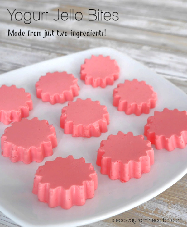 Low Carb Yogurt Jello Bites