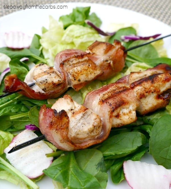 Chicken and Bacon Skewers - low carb tasty grilling idea