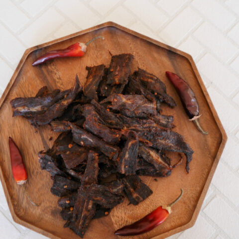 Homemade Chipotle Beef Jerky