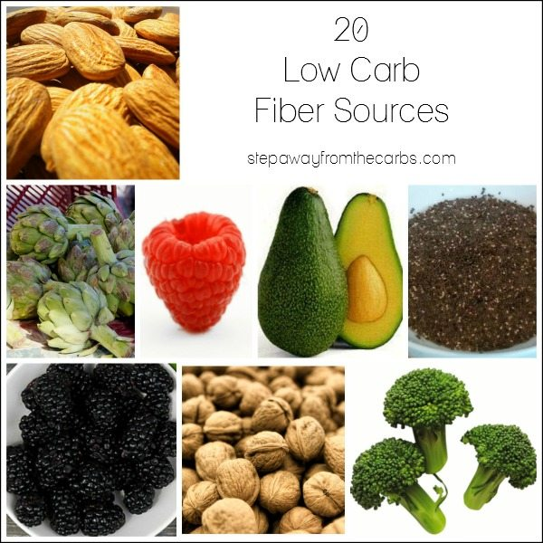 20 Low Carb Fiber Sources - every low carber needs this list!