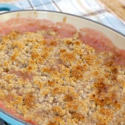 Low Carb Rhubarb Crumble