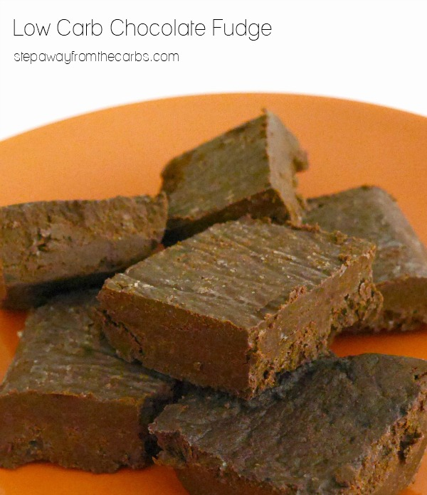 Low Carb Chocolate Fudge - a rich and delicious sugar-free snack!