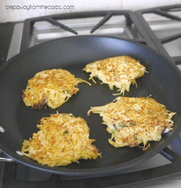 Spaghetti Squash Fritters - a delicious low carb side dish recipe