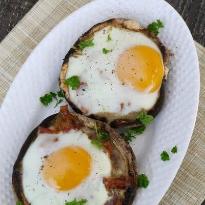 Egg and Bacon Stuffed Mushrooms