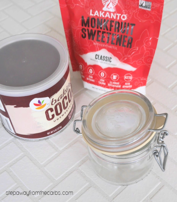 Homemade Low Carb Chocolate Milk Mix - sugar free recipe