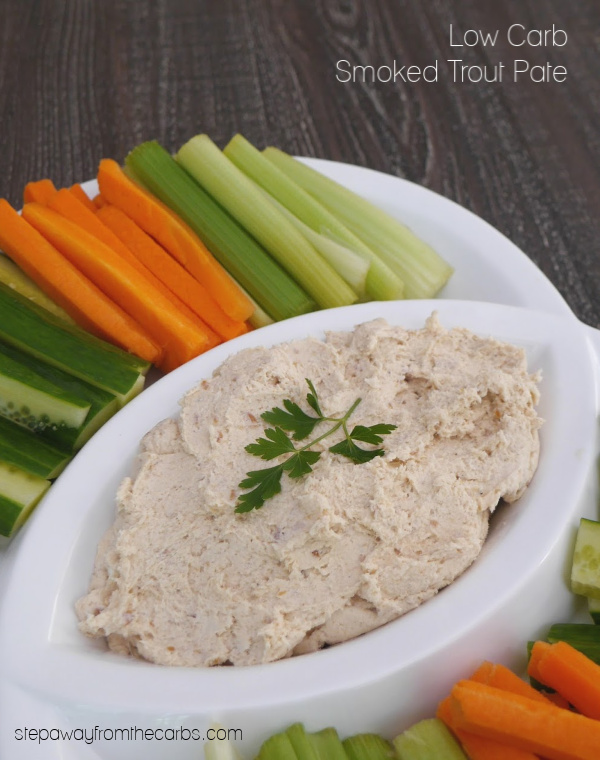 Low Carb Smoked Trout Pate - a super quick and easy keto friendly and LCHF recipe!