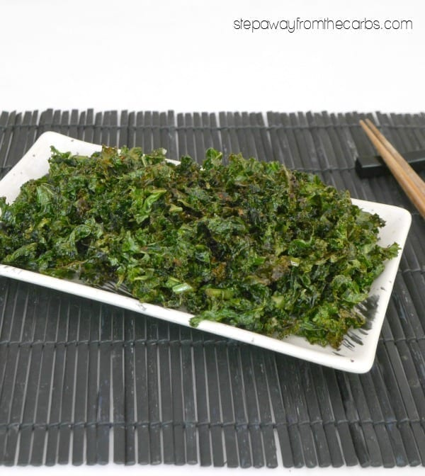Crispy Seaweed - a fun low carb way to eat KALE!