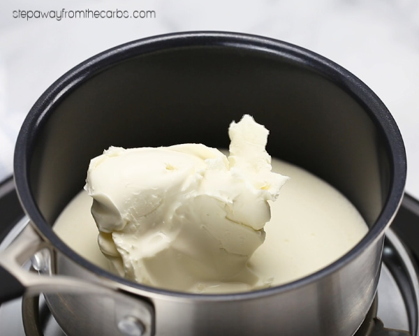 Low Carb White Sauce - just three ingredients! Keto and LCHF recipe with video tutorial.