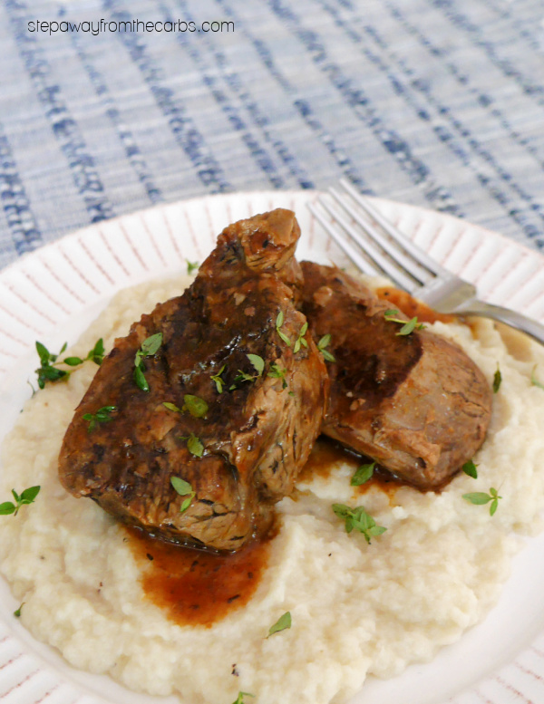 Low Carb Boneless Short Ribs - prepared in the slow cooker or Instant Pot