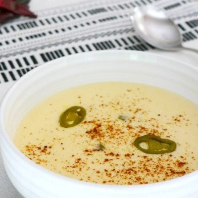 Low Carb Cheese Soup with Jalapeños