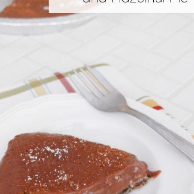 Low Carb Chocolate and Hazelnut Pie