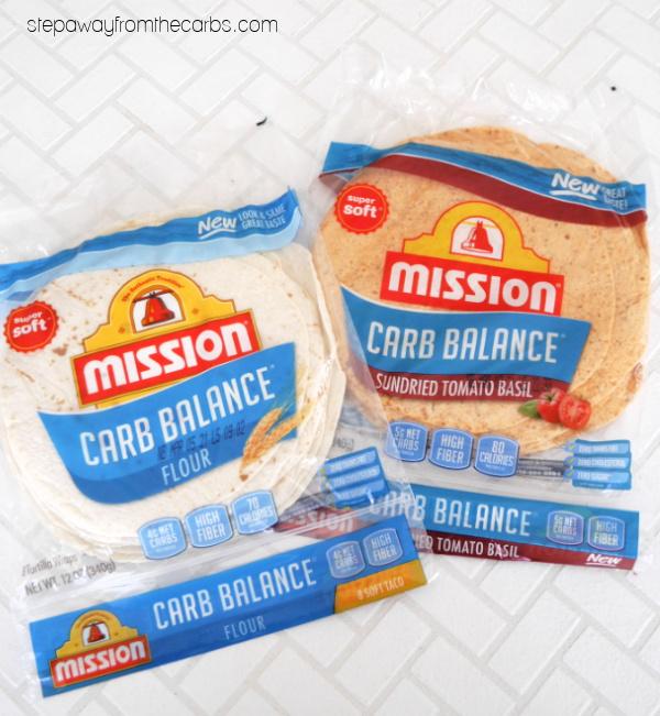 Low Carb Rainbow Veggie Wraps - Mission tortillas
