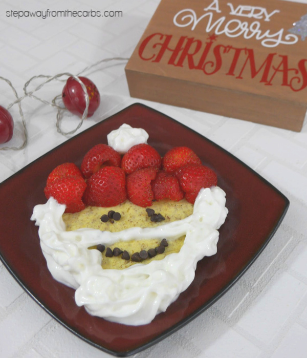Low Carb Santa Pancake - fun festive food for the whole family! Gluten free and keto recipe.