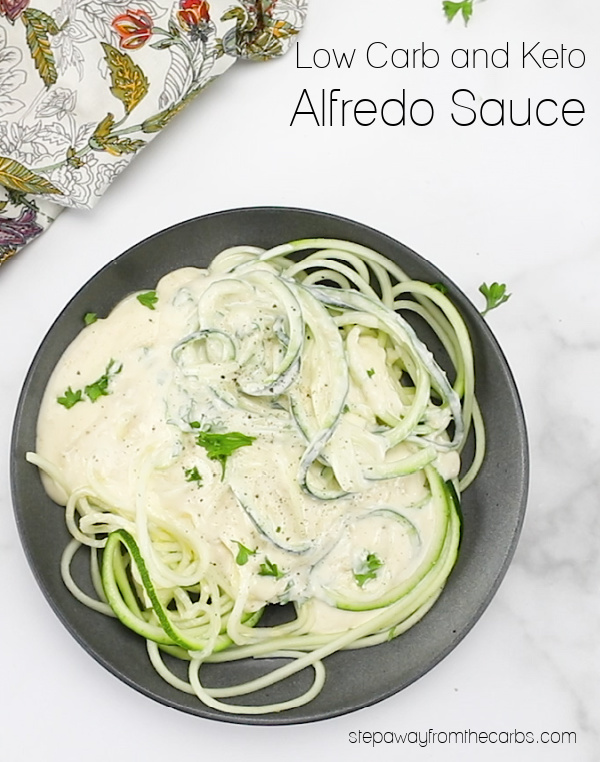 Decadent Low Carb Alfredo Sauce - three ingredients, LCHF and keto recipe with video tutorial.