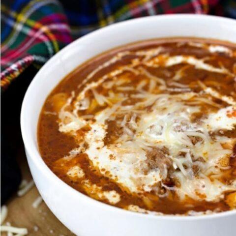 Low Carb Lasagna Soup