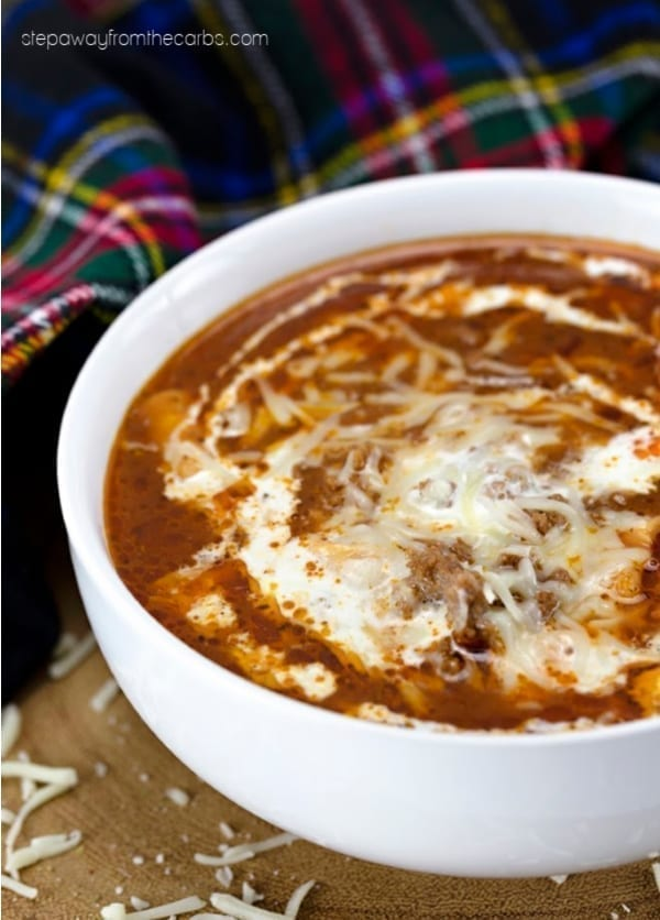 Low Carb Lasagna Soup - a delicious and filling twist on the Italian classic!