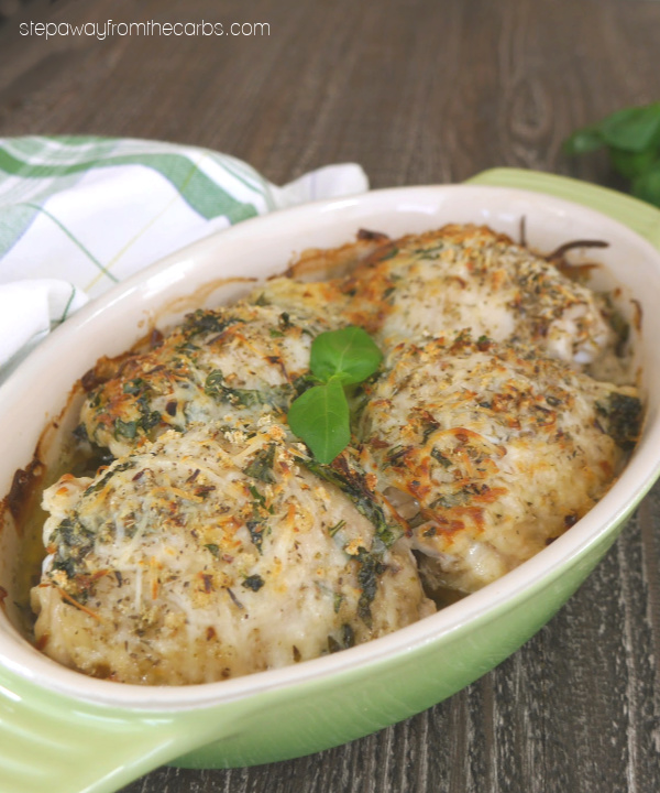 Italian Baked Chicken Thighs - a tasty and flavorful dish! Low carb and keto recipe.