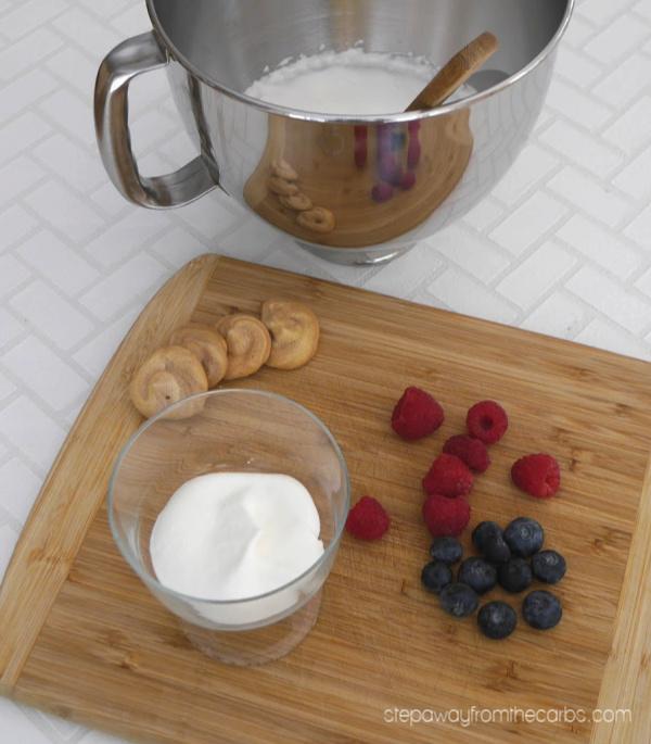 Low Carb Eton Mess - a twist on a classic English dessert. Sugar free recipe.
