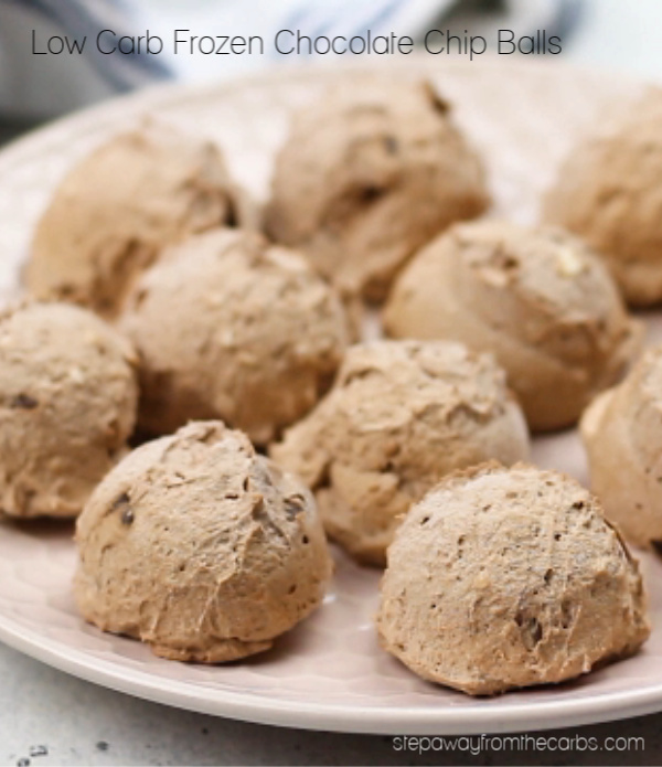 Low Carb Frozen Chocolate Chip Balls from Step Away From The Carbs