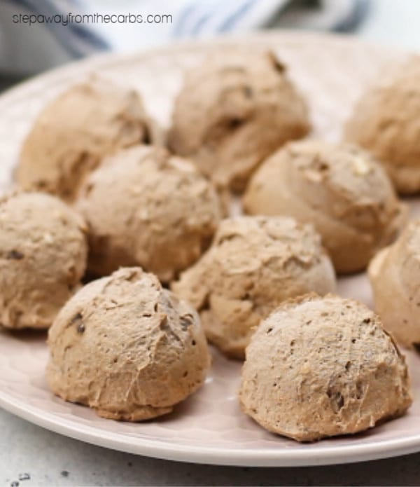 Low Carb Frozen Chocolate Chip Balls - a wonderful sweet treat! Sugar free, keto, and LCHF recipe with video tutorial!