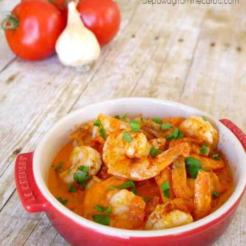 Shrimp with Tomato Cream Sauce
