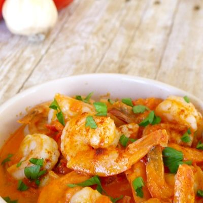 Low Carb Shrimp with Tomato Cream Sauce